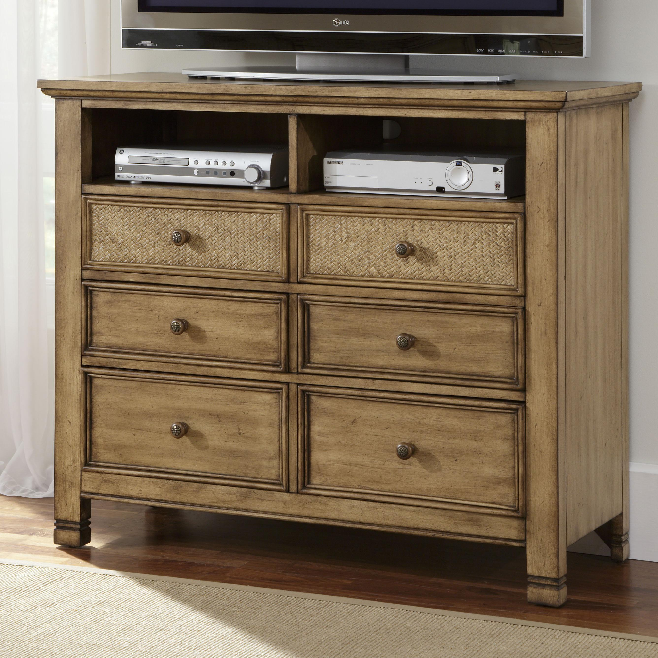 Progressive Furniture Kingston Isle Media Chest - Item Number: P196-46