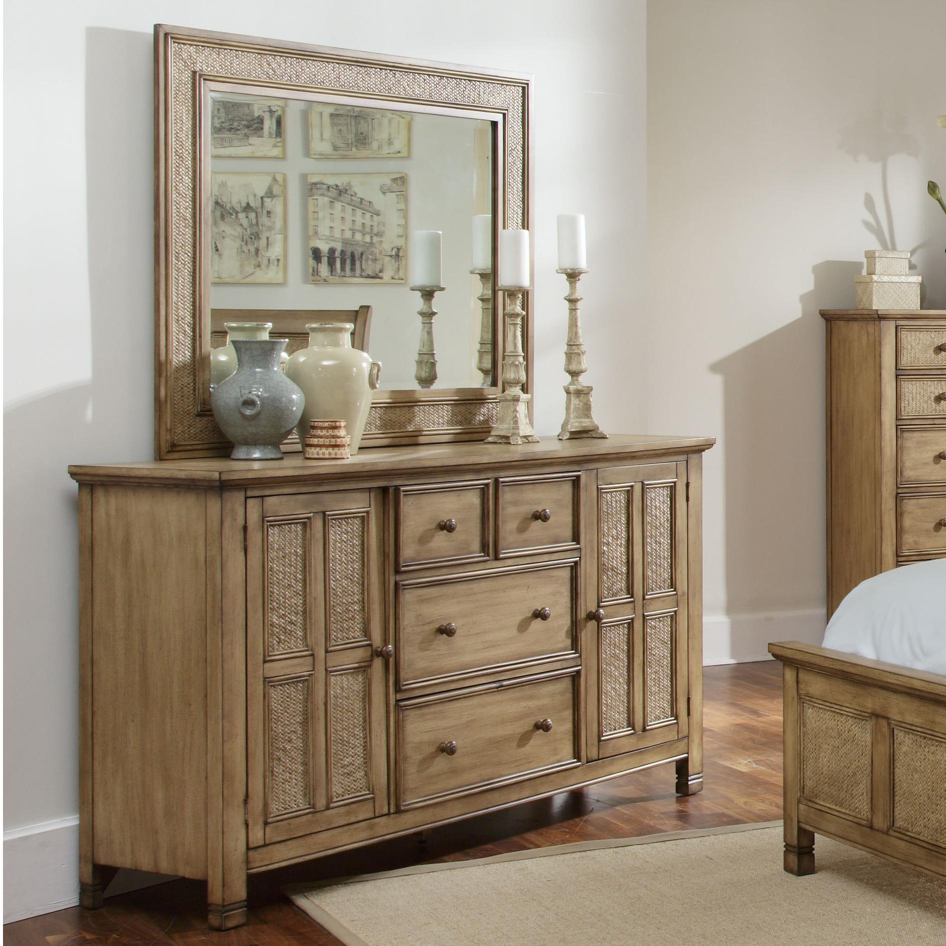 Progressive Furniture Kingston Isle Dresser With Mirror Set - Item Number: P196-50+24