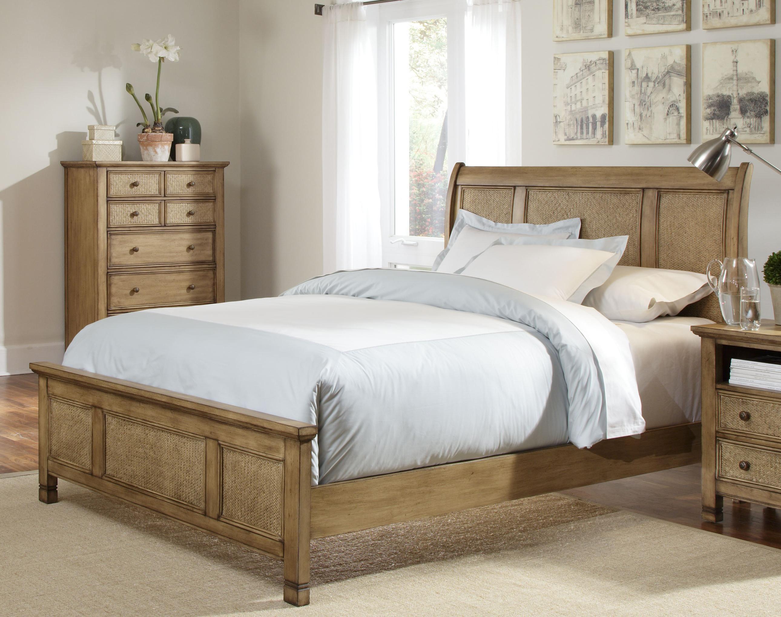 Progressive Furniture Kingston Isle King Sleigh/Platform Bed - Item Number: P196-90+1+83