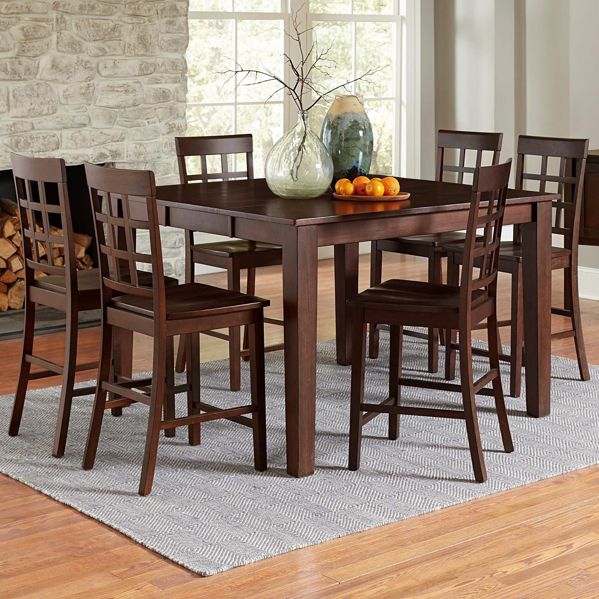 Progressive Furniture Kinston Transitional 9 Piece Counter Height ...