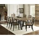 Progressive Furniture Klondike 7-Piece Dining Set - Item Number: D893-10+6x61