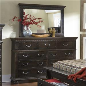 Progressive Furniture La Cantera Drawer Dresser & Mirror