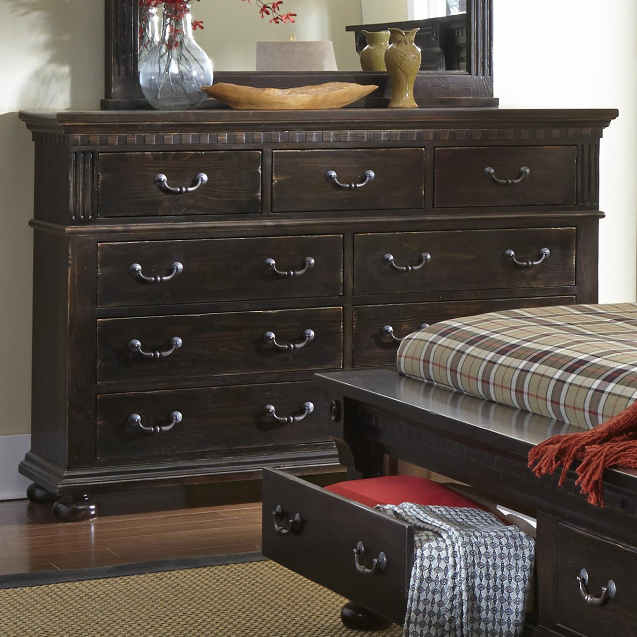 Progressive Furniture La Cantera Drawer Dresser - Item Number: P665-23