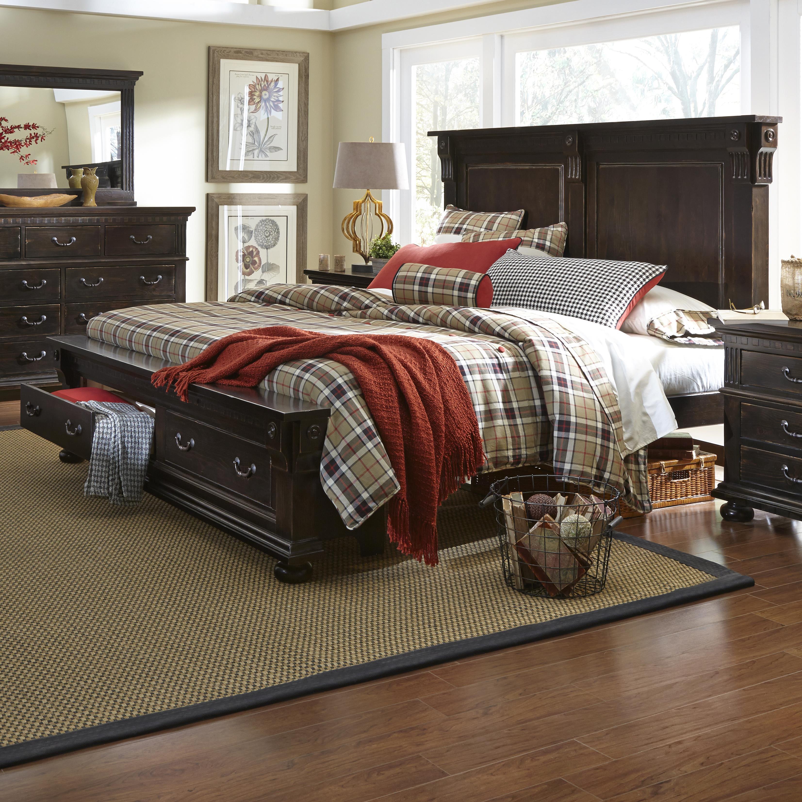 Progressive Furniture La Cantera King Storage Bed - Item Number: P665-94+95+78