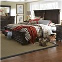 Progressive Furniture La Cantera Traditional King Storage Bed with 2 Footboard Drawers - Bed Shown May Not Represent Size Indicated