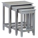 Progressive Furniture Logan 3-Piece Nesting Table Set - Item Number: A748-68