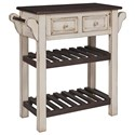 Progressive Furniture Madelyn Kitchen Island - Item Number: A523-73A