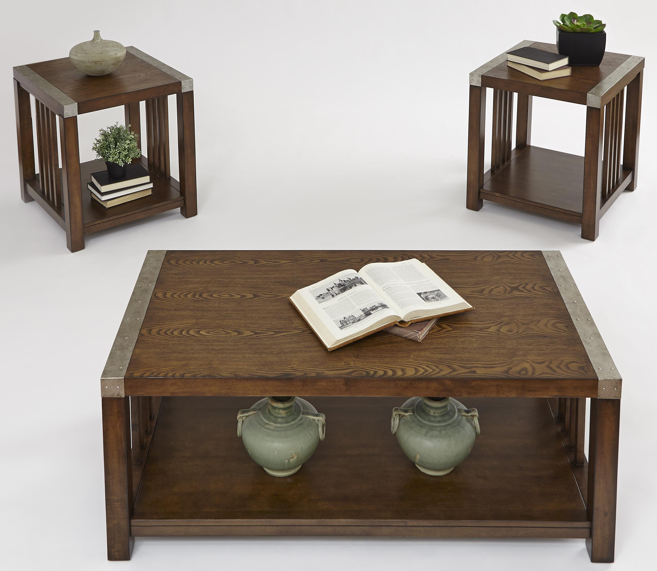 Progressive Furniture Mason Hills 3 Pack Set w/ Cocktail Table & 2 End Tables - Item Number: P266-95