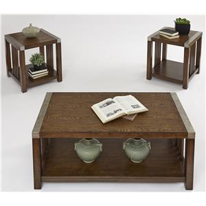Progressive Furniture Mason Hills 3 Pack Set w/ Cocktail Table & 2 End Tables