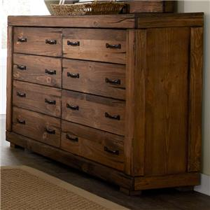 Progressive Furniture Maverick 8 Drawer Dresser