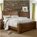 Progressive Furniture Maverick Rustic King Panel Bed with Softened Corners - Bed Shown May Not Represent Size Indicated