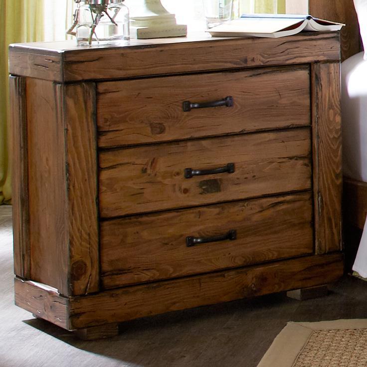Progressive Furniture Maverick 3 Drawer Nightstand - Item Number: P626-43
