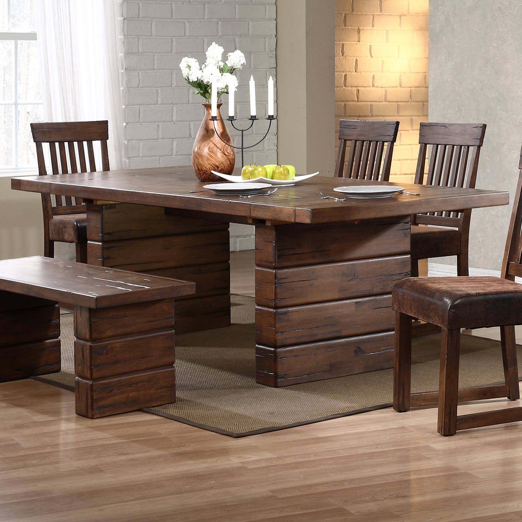 Progressive Furniture Maverick Rectangle Dining Table - Item Number: P866-10B+10T