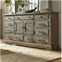 Progressive Furniture Meadow Door Dresser - Item Number: P32-24