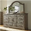 Progressive Furniture Meadow Door Dresser - Item Number: P632-24+50
