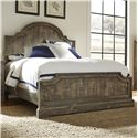 Progressive Furniture Meadow Rustic Pine Queen Panel Bed with Scalloped Trim - Bed Shown May Not Represent Size Indicated