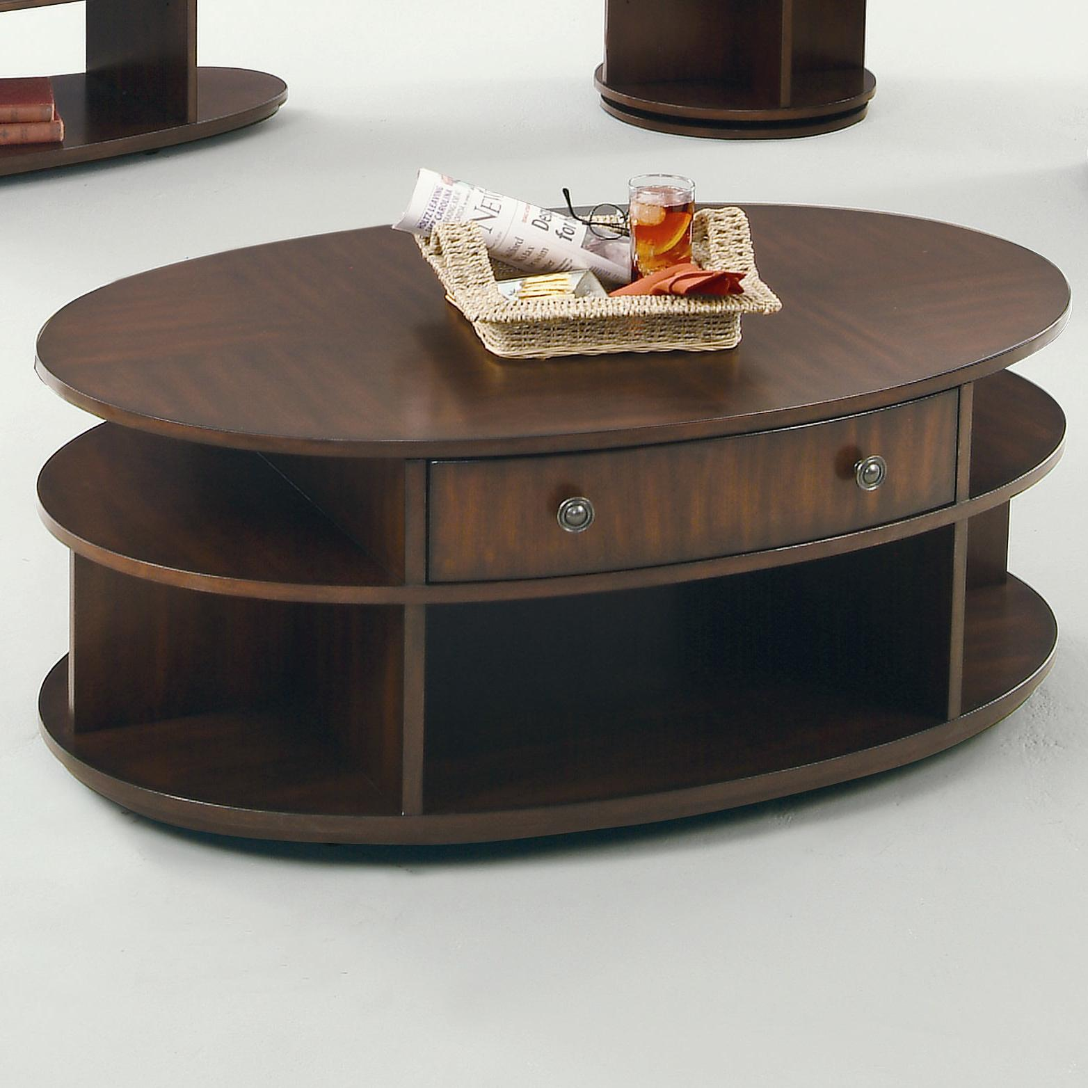 Progressive Furniture Metropolitan  Oval Cocktail Table - Item Number: P474-15