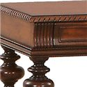 Progressive Furniture Mountain Manor Traditional Sofa Table with Two Drawers - Decorative Details