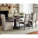 Progressive Furniture Muses 7-Piece Rectangular Dining Table Set - Item Number: P836-10B+10T+2x60+4x65