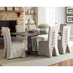 Progressive Furniture Muses 7-Piece Rectangular Dining Table Set