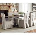 Progressive Furniture Muses 7-Piece Rectangular Dining Table Set - Item Number: P836-10B+10T+6x60
