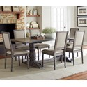 Progressive Furniture Muses 7-Piece Rectangular Dining Table Set - Item Number: P836-10B+10T+6x65