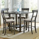 Progressive Furniture Muses 5-Piece Counter Table Set - Item Number: P836-12B+12T+4x63