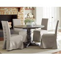 Progressive Furniture Muses 5-Piece Round Dining Table Set - Item Number: P836-13B+13T+4x60