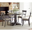 Progressive Furniture Muses 5-Piece Round Dining Table Set - Item Number: P836-13B+13T+4x61