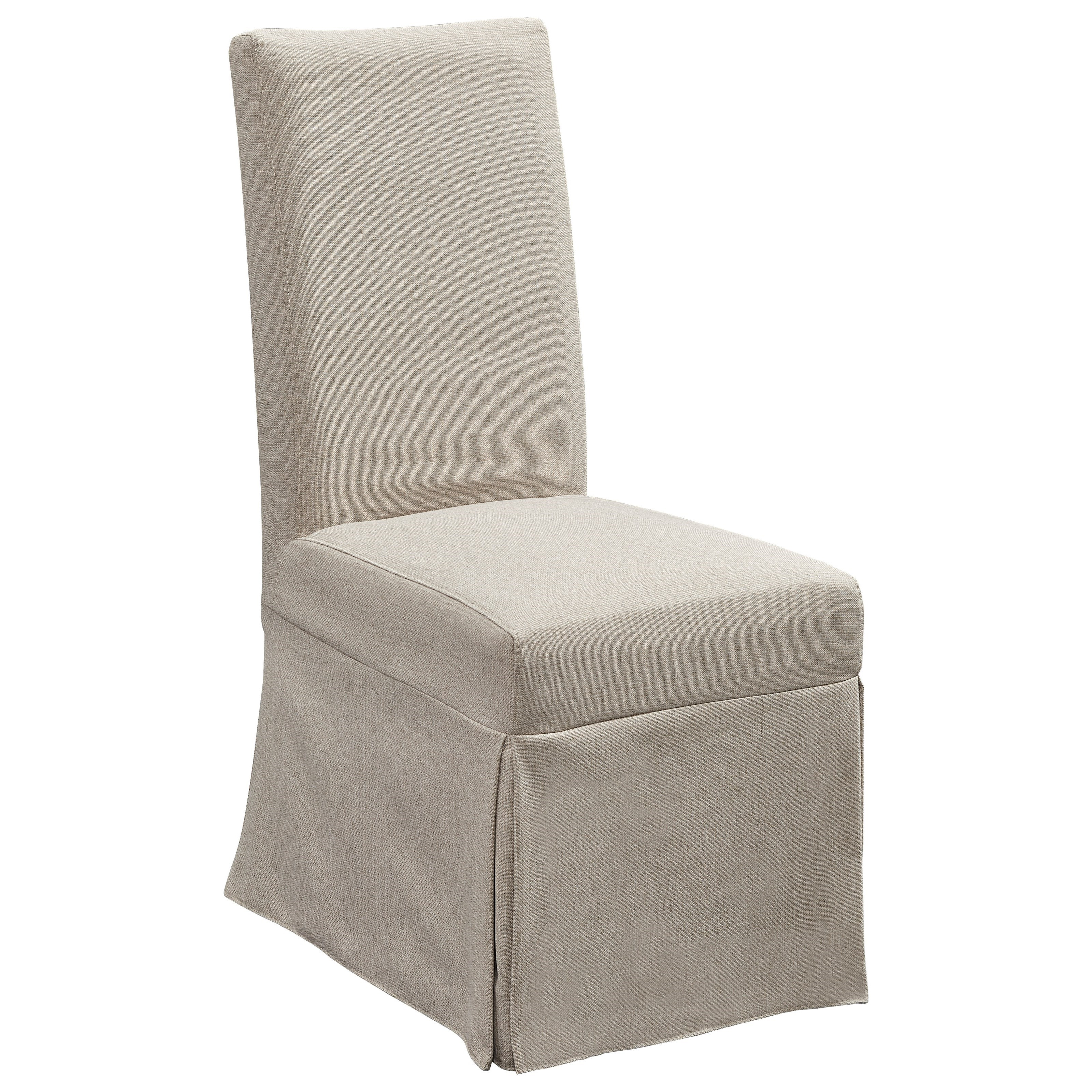 Upholstered Parsons Chair w/ Cover