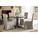 Progressive Furniture Muses Upholstered Parsons Chair w/ Cover and Back Ties