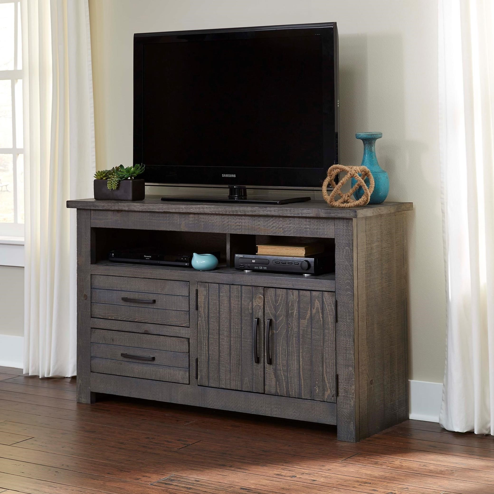 Furniture Corp: Progressive Furniture Nest 54 Inch Console With Grooved