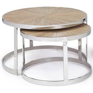 Progressive Furniture Oscar Nesting Cocktail Tables (Set of 2)