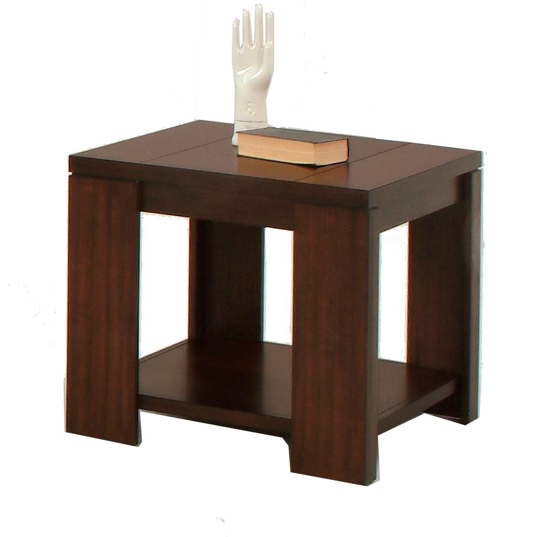Progressive Furniture Waverly Contemporary Square Lamp Table Wayside Furniture End Table