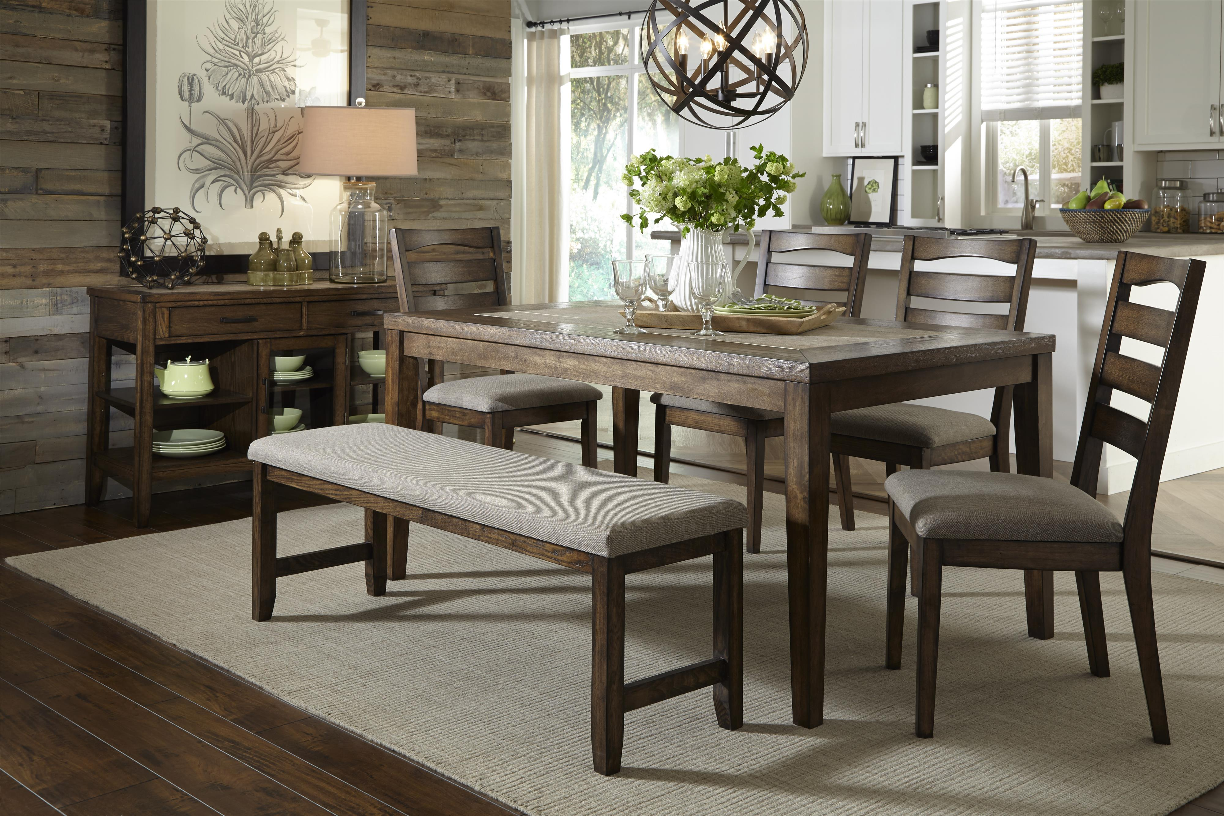 Progressive Furniture Forest Brook Casual Dining Room Group - Item Number: P378D-10+56+69+4x61