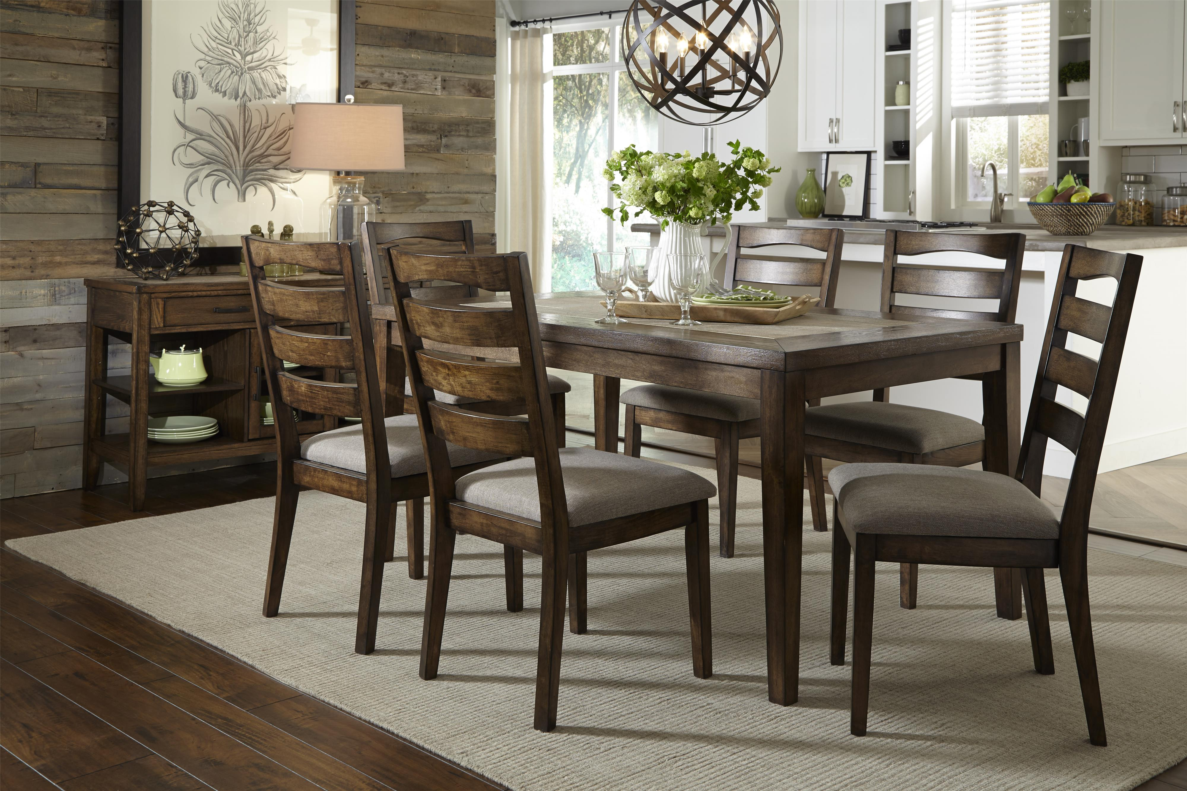 Progressive Furniture Forest Brook Casual Dining Room Group - Item Number: P378D-10+56+6x61