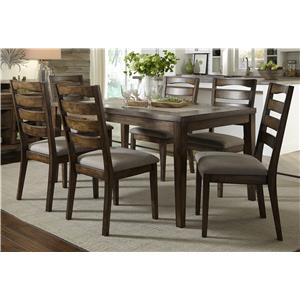 Progressive Furniture Forest Brook 7 Piece Dining Table and Chair Set
