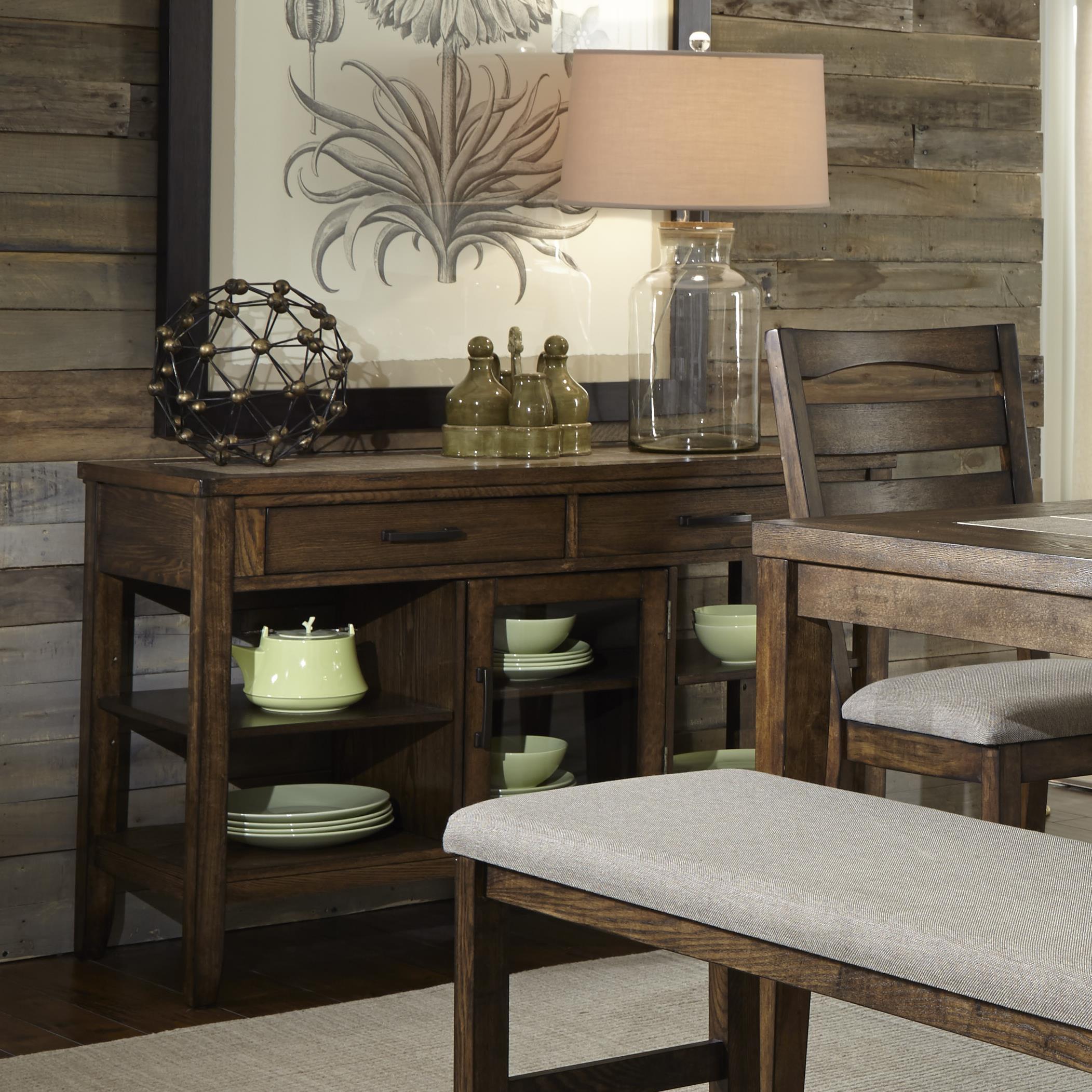 Progressive Furniture Forest Brook Server - Item Number: P378D-56
