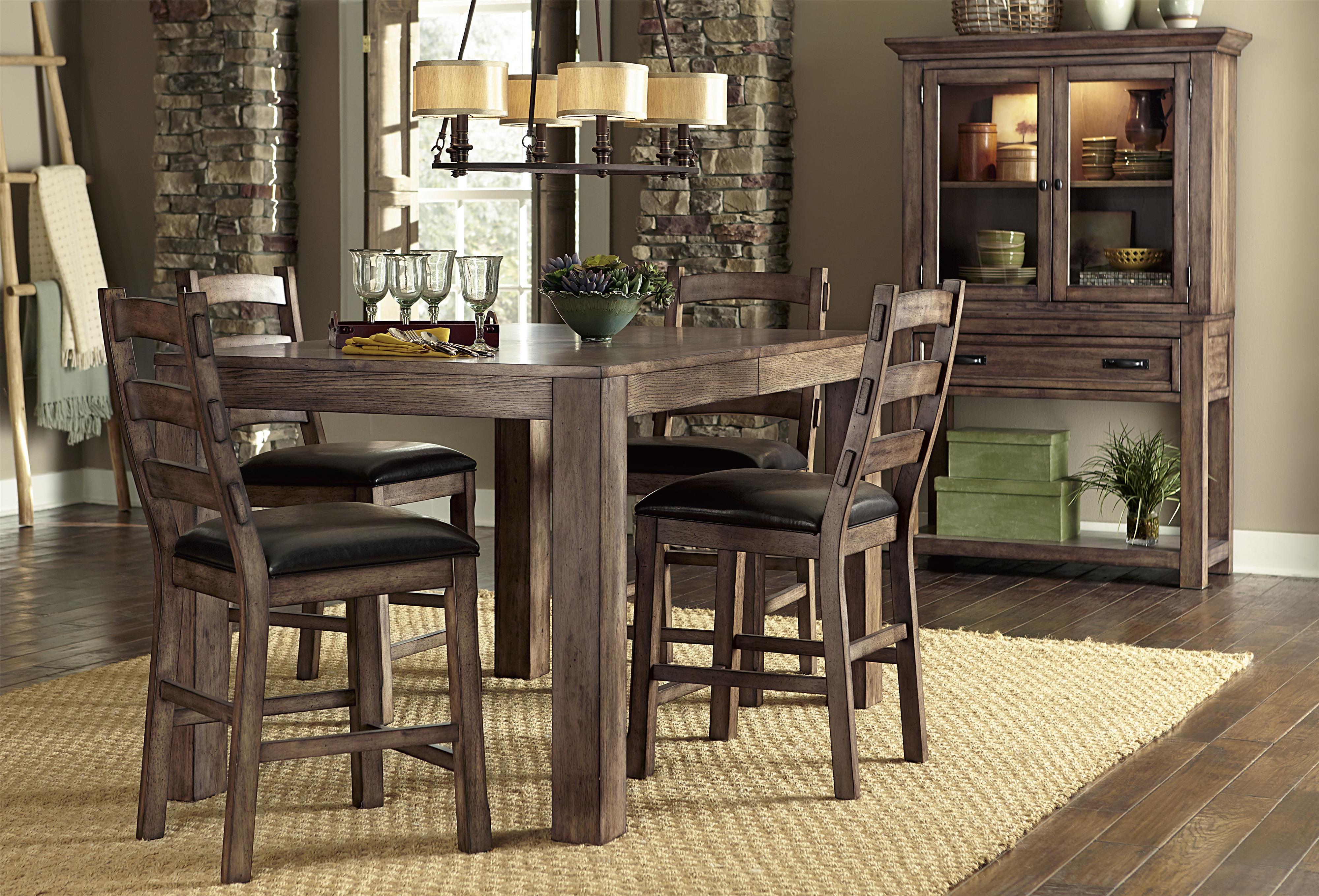 Progressive Furniture Boulder Creek Casual Dining Room Group - Item Number: P849 Dining Room Group 3