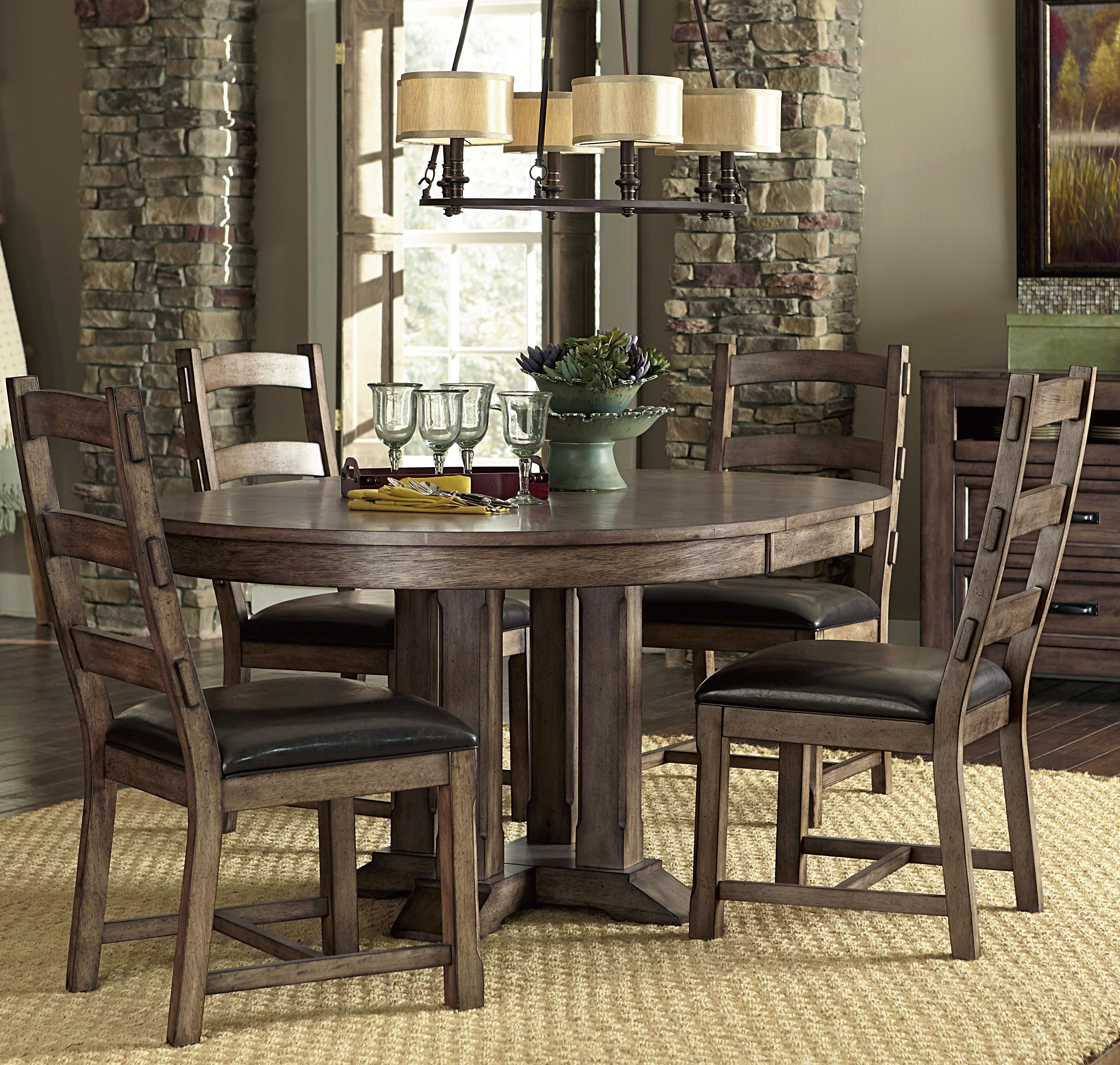 Progressive Furniture Boulder Creek Dining Table and Chair Set - Item Number: P849-10B+10T+4x61