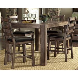 Progressive Furniture Boulder Creek Counter Dining Table and Chair Set