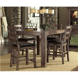 Progressive Furniture Boulder Creek 7 Piece Counter Dining Table and Chair Set