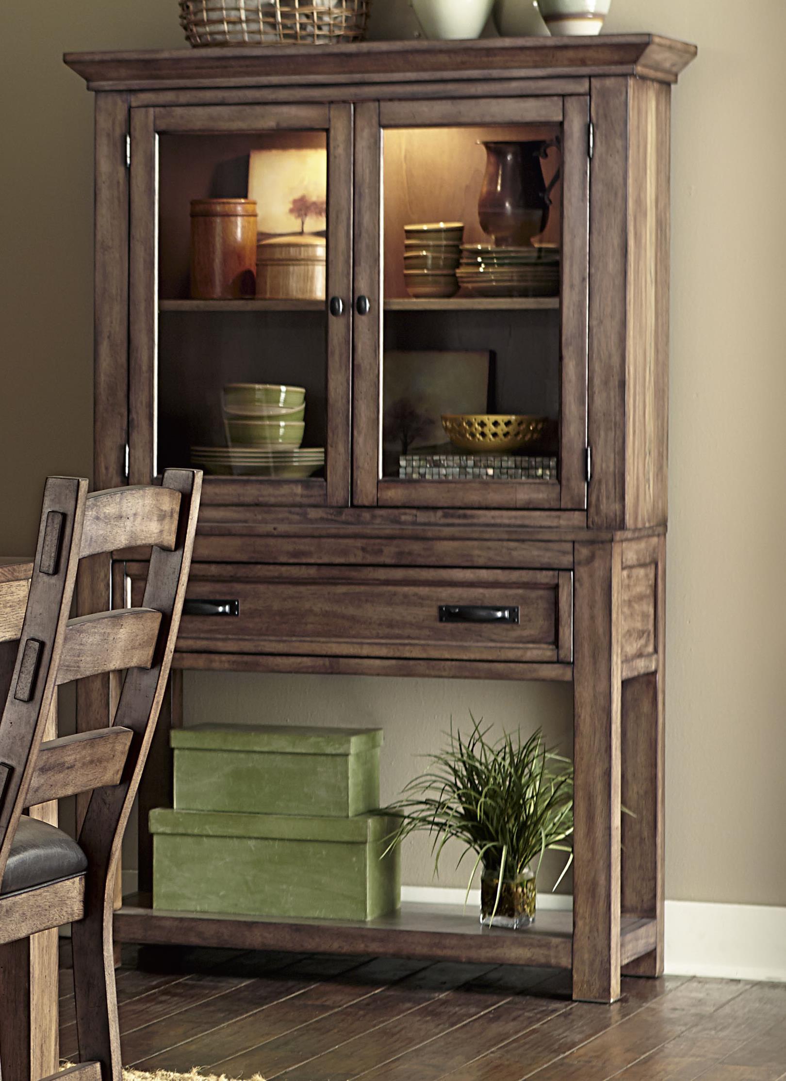 Progressive Furniture Boulder Creek China Cabinet - Item Number: P849-83+82