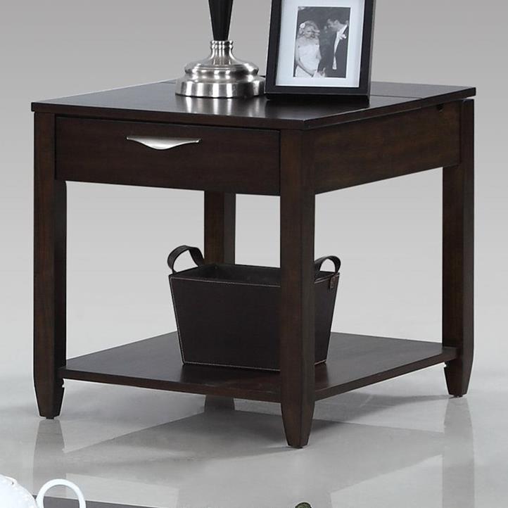 Progressive Furniture Paladium Rectangular End Table - Item Number: T418-04