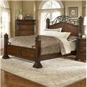 Progressive Furniture Regency Traditional Queen Panel Bed with Metal Accents - P166-34+35+78 - Bed Shown May Not Represent Size Indicated