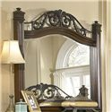 Progressive Furniture Regency Traditional Landscape Mirror with Metal Accents - P166-50