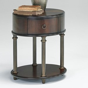 Progressive Furniture Regent Court Oval End Table with USB/Power Outlets