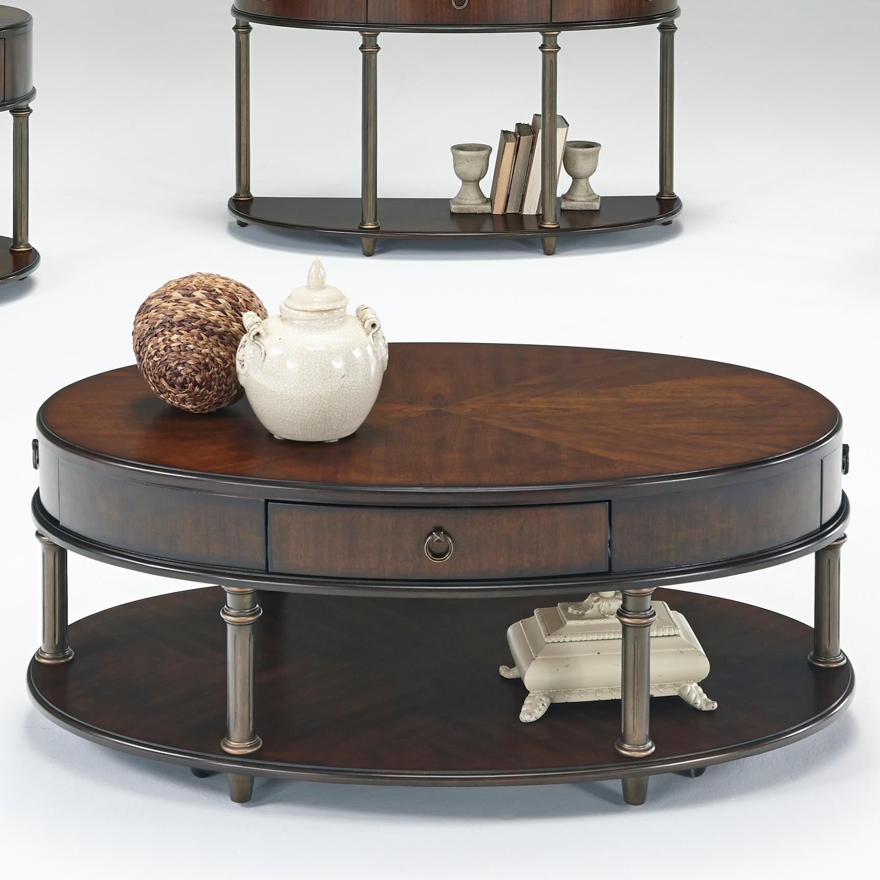 Castered Oval Cocktail Table