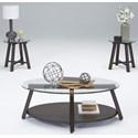 Progressive Furniture Royden 3-Piece Occasional Table Set - Item Number: T226-95