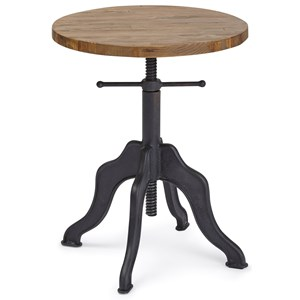 Progressive Furniture Sadie Round Adjustable Accent Table
